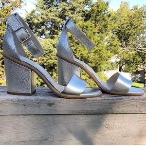 Silver Seychelles heels